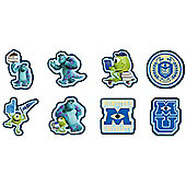 Disney Monsters Inc 8 Piece Card Wall Stickers