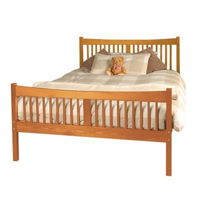Comfy Living 4ft6 Double Farmhouse JD shaker in Caramel with Basic Budget Mattress