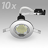Fire Rated 3W LED GU10 Downlight, Chrome
