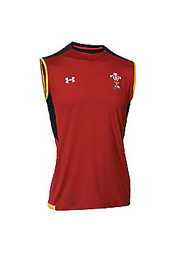 Under Armour Wales Rugby WRU Sleeveless Training Vest / Singlet 15/16 - Red