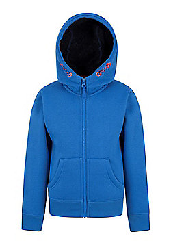 Mountain Warehouse Nordic Fur Lined Hoody w/ Sherpa Fleece Lining and Full Zip - Blue