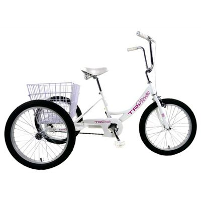 "Concept Pedal Pals 20"" Wheel Tri-Mantis Trike, White"