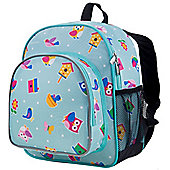 Toddler Backpack - Owls & Bird Houses
