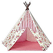 Children's Play Tent, Floral Wigwam