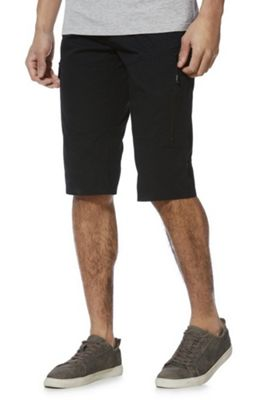 F&F Cargo Shorts with Belt Black 32 Waist