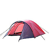 North Gear Camping Mars Waterproof 4 Man Dome Tent Red