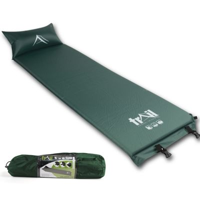 Trail Self-Inflating Camping Mat With Pillow - Green