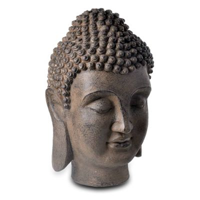 Extra Large Stone Look Resin Buddha Head Garden Feature