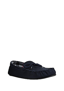 F&F Faux Suede Micro-Fresh® Moccasin Slippers - Navy