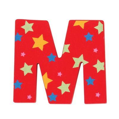 Bigjigs Toys Star Letter M (Red)