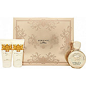 Versace Eros Pour Femme Gift Set 50ml EDP + 50ml Body Lotion + 50ml Shower Gel For Women