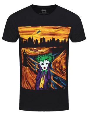 DC Comics The Joker Scream Men's T-shirt Black