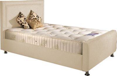 ValuFurniture Calverton Divan Bed and Mattress Set - Cream Chenille Fabric - Small Single - 2ft 6
