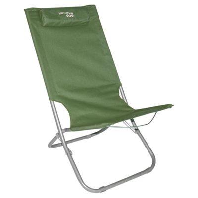 Yellowstone Lounger Folding Beach Chair, Green