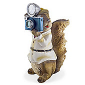 Felix the Paparazzi Squirrel Garden Ornament with Solar Powered Light