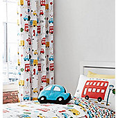 Catherine Lansfield Kids Transport Eyelet Curtains - 66x72 Inches (168x183cm)