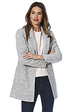 Only Marl Open Front Long Line Blazer - Grey