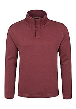 Mountain Warehouse Alpha Mens Button Neck Top - Red