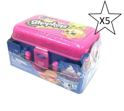 Shopkins 2 Pack In Lunchbox - 5 Packs Included