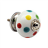 Nicola Spring Ceramic Cupboard Drawer Knob - Polka Dot