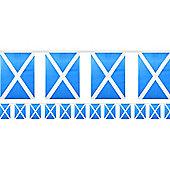 Scottish Flag Fabric Bunting - 6m