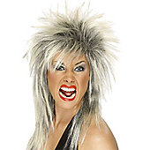 Smiffy's - 80's Rock Diva - Blonde and Black Wig