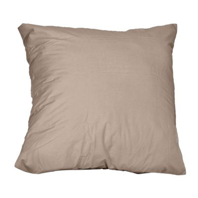 Homescapes Mink Continental Large Square Egyptian Cotton Pillowcase Luxury Pillow Cover 1000 TC, 80 x 80 cm