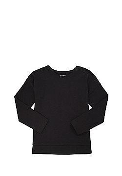 F&F Mesh Trim Long Sleeve T-Shirt - Dark navy