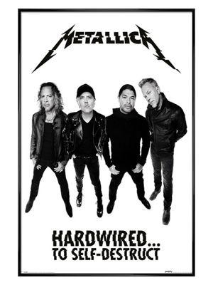 Metallica Gloss Black Framed Hardwired Band Poster 61x91.5cm