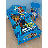 Paw Patrol Spy Junior Toddler Bed - Deluxe Foam Mattress