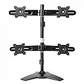 "Amer AMR4S 24"" Freestanding Black flat panel desk mount"