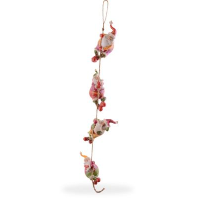 Climbing Father Christmas Garland Hanging Decoration