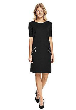 Wallis Petite Zip Front Pocket Dress - Black