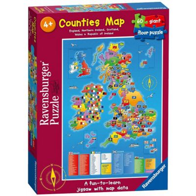 Counties Map - Giant Floor Puzzle
