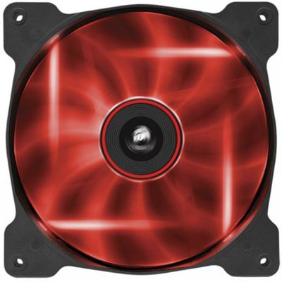 Corsair Red Quiet LED Fan Single Pack