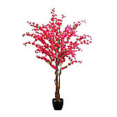 Homescapes Artificial Blossom Tree - Cerise Pink Silk Flowers