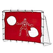 Woodworm 6' X 4' Metal Frame Football Goal W/ Target Shooting Practice Mesh