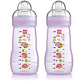 Mam 2pk 270ml Baby Bottle (Girl)