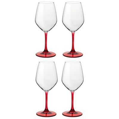 Bormioli Rocco Red / White Wine Drinking Glasses - Red - 435ml x4