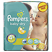 Pampers Baby Dry Size 4+ Monthly Pack - 152 Nappies