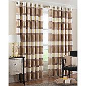 Riva Home Horizon Eyelet Curtains - Natural