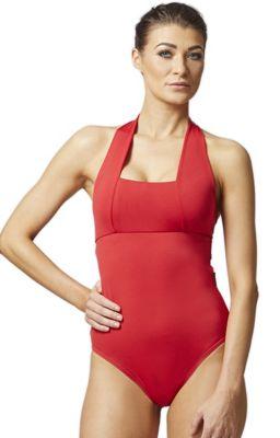 Control Elite Halter Swimsuit Red 3X