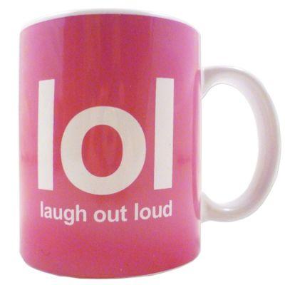 Boxer LOL Text Speak Novelty Mugs