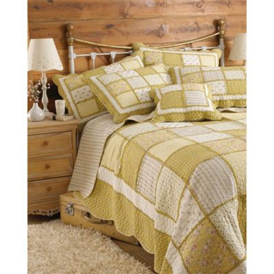 Riva Home Honeybee Yellow Bedspread - 275x275cm