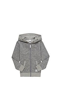 F&F Marl Zip-Through Hoodie - Grey