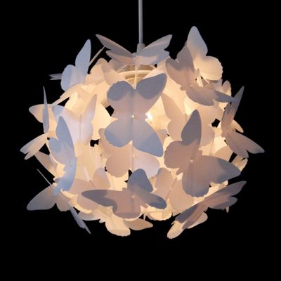 Butterfly ball ceiling light pendant shade white