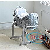 Grey Wicker Cocoon Pod Basket
