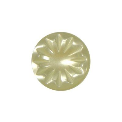 Hemline Cream Decorative Shank Buttons 15mm 5pk