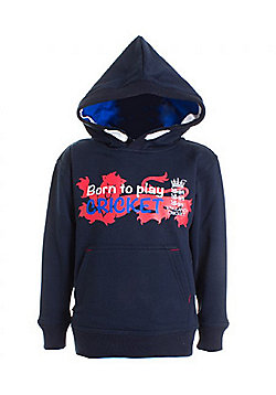 ECB England Cricket Kids Over Head Hoodie | Navy - Navy