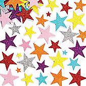 Glitter Star Foam Craft Stickers (Pack of 150)